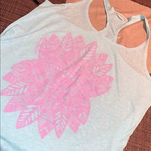 Billabong Blue Racerback Tank Top